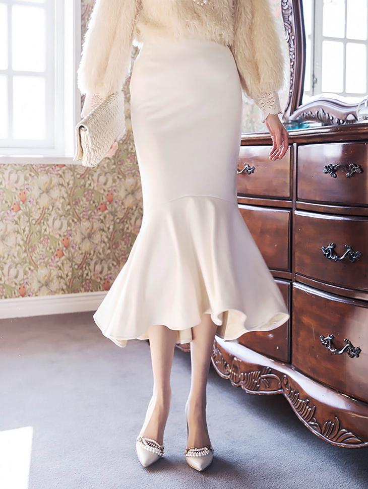 SK2009 リサ起毛マーメイドスカート