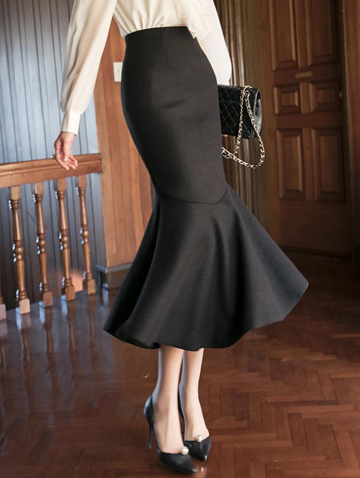 SK2012 ビコアスリットマーメイドスカート
