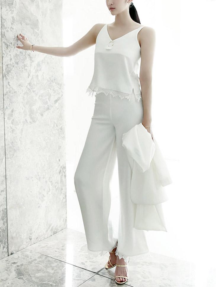P1710てスリングレーススレックスパンツ・Ivory color *