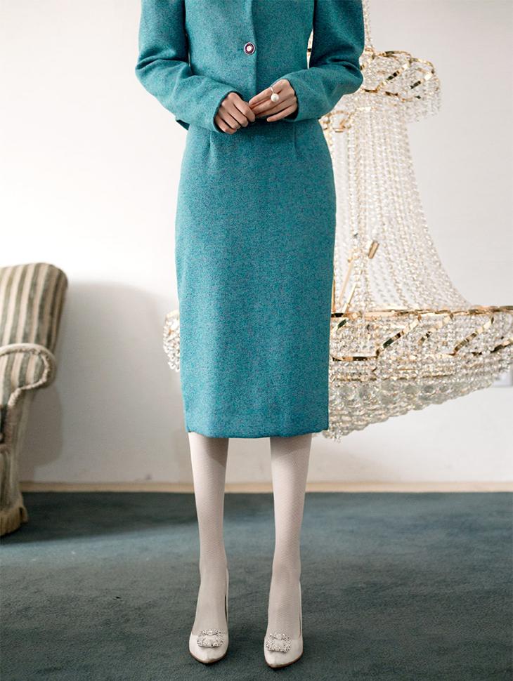 SK1601オードリーツイードロングスカート