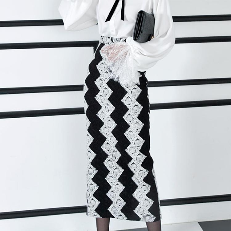 SK1609ベスティンレース配色スカート(18次リオド)