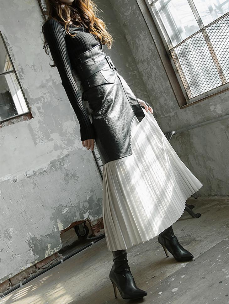 SK1809エイナしわスカート(6次再入庫)