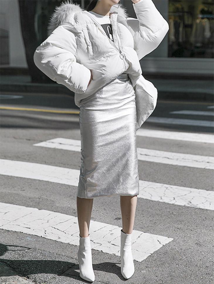 SK1515ルミナスペンシルスカート「SKYキャッスルジンジンフイファッション」