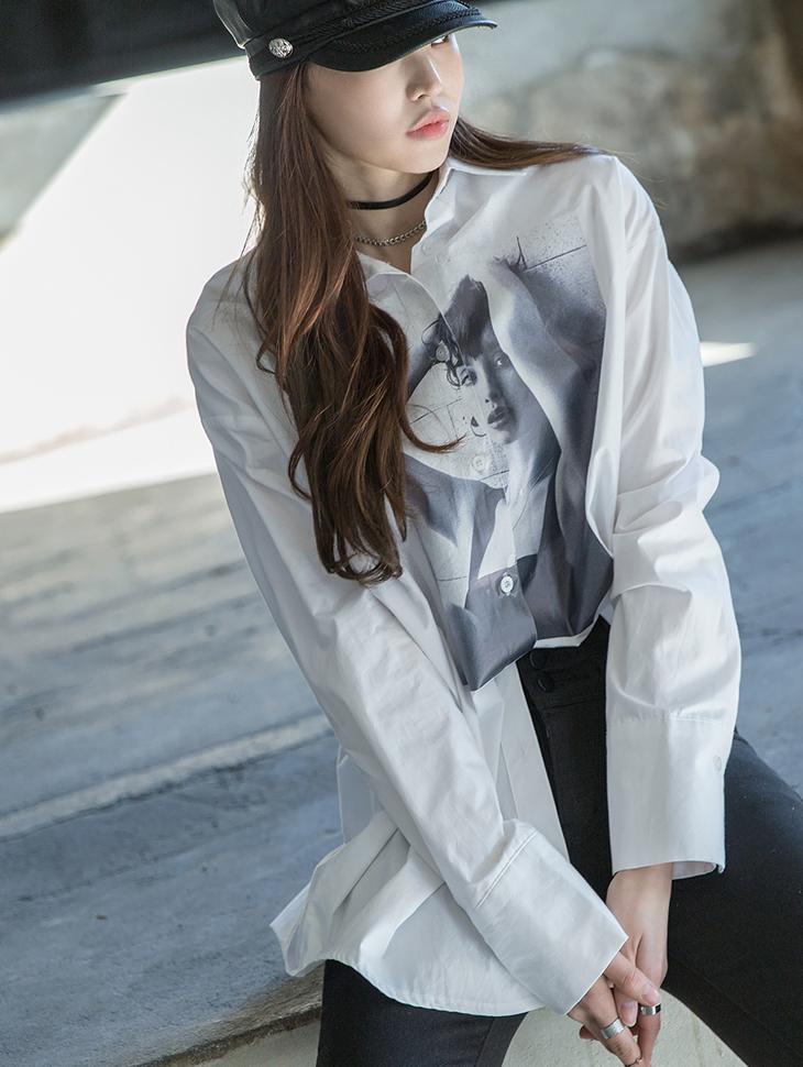 S281でプリンティングバクシーロングシャツ