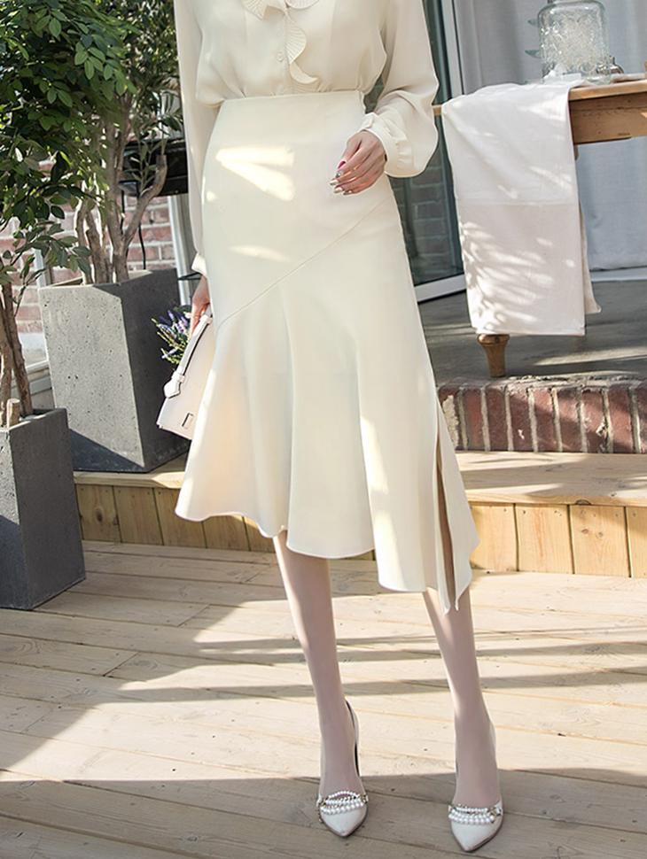 SK1851デーモンスリットマーメイドスカート