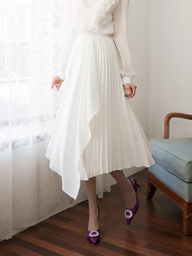 SK1854ハーフプリッツのロースカート
