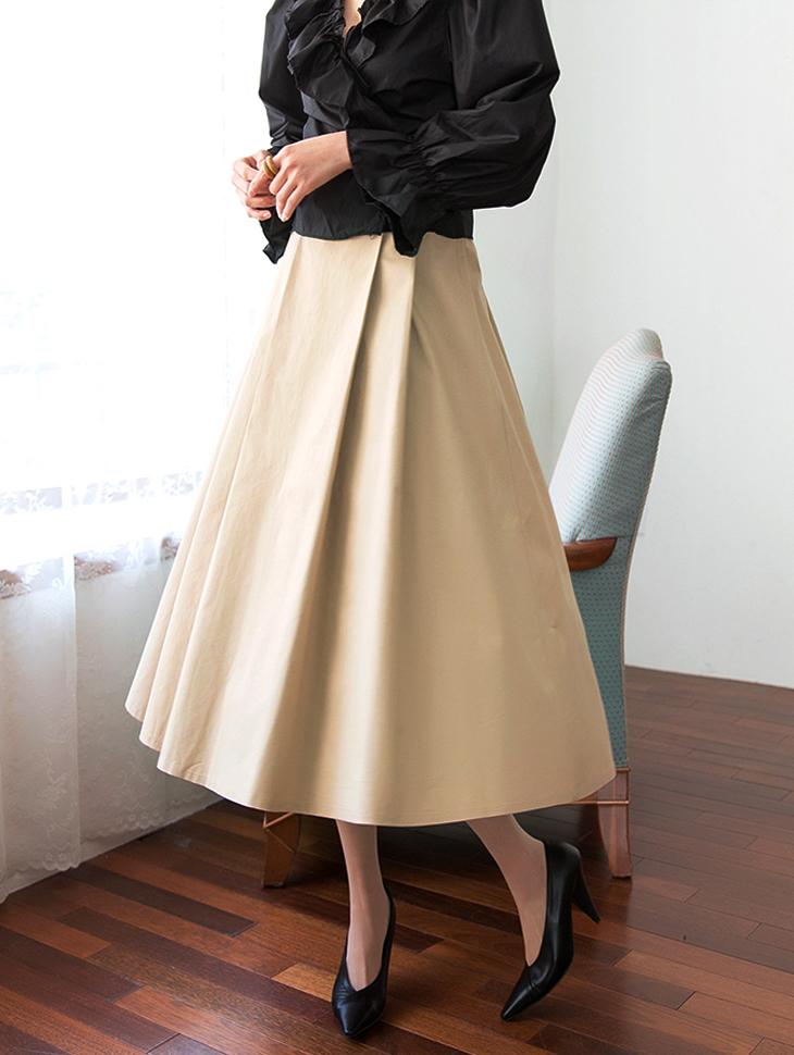 SK1861ロードコットンフレアスカート