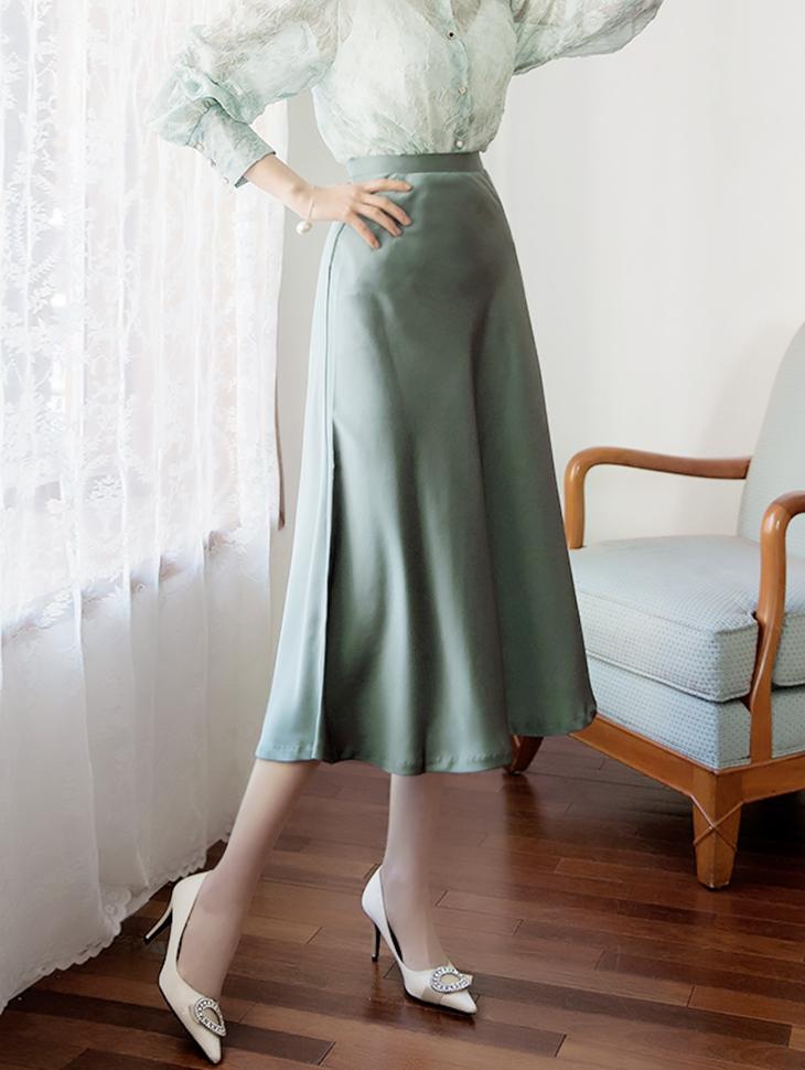SK1856リリース沙田光沢スカート・Lサイズ製作*