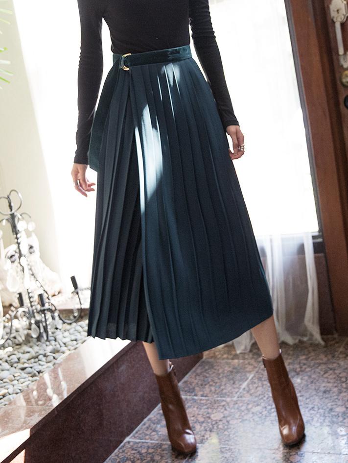 SK1946フェロプリーツラップスカート