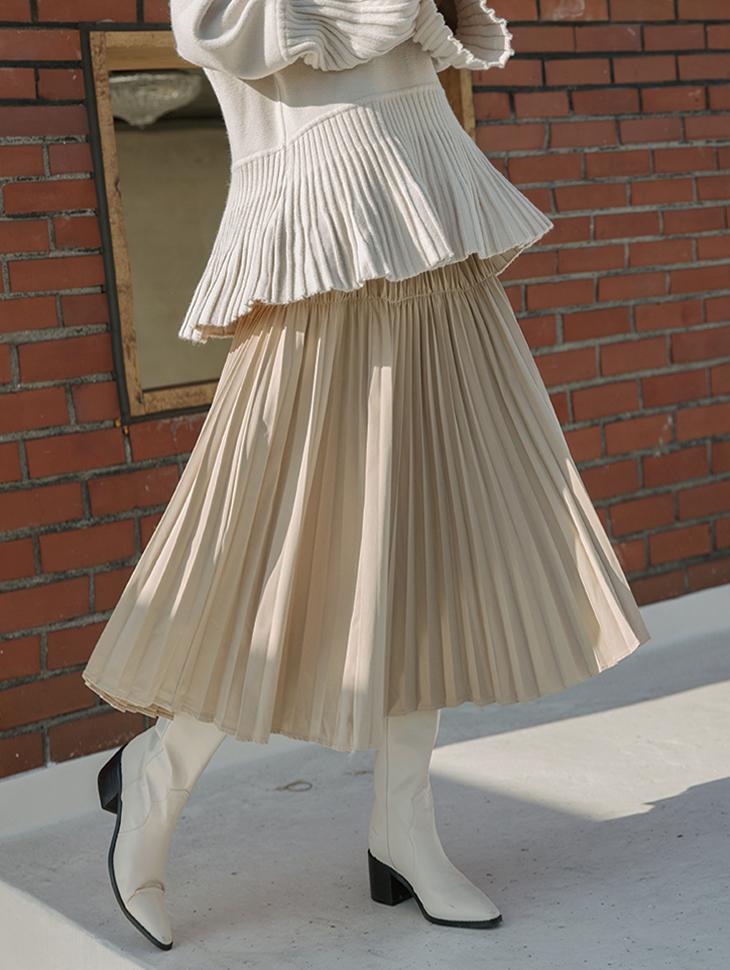 SK1979 ガベスダブルプリーツスカート
