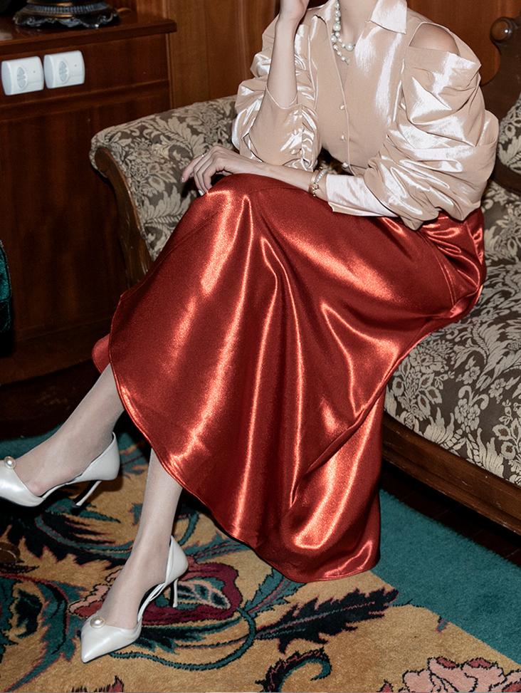 SK1987 ロニアサテンスカート
