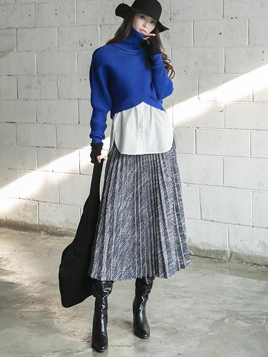 SK2015 ヘレナツイードロングスカート