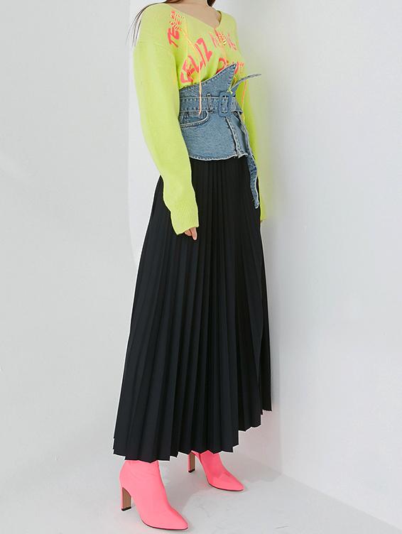 SK2023 ケリンスバンディングプリーツスカート