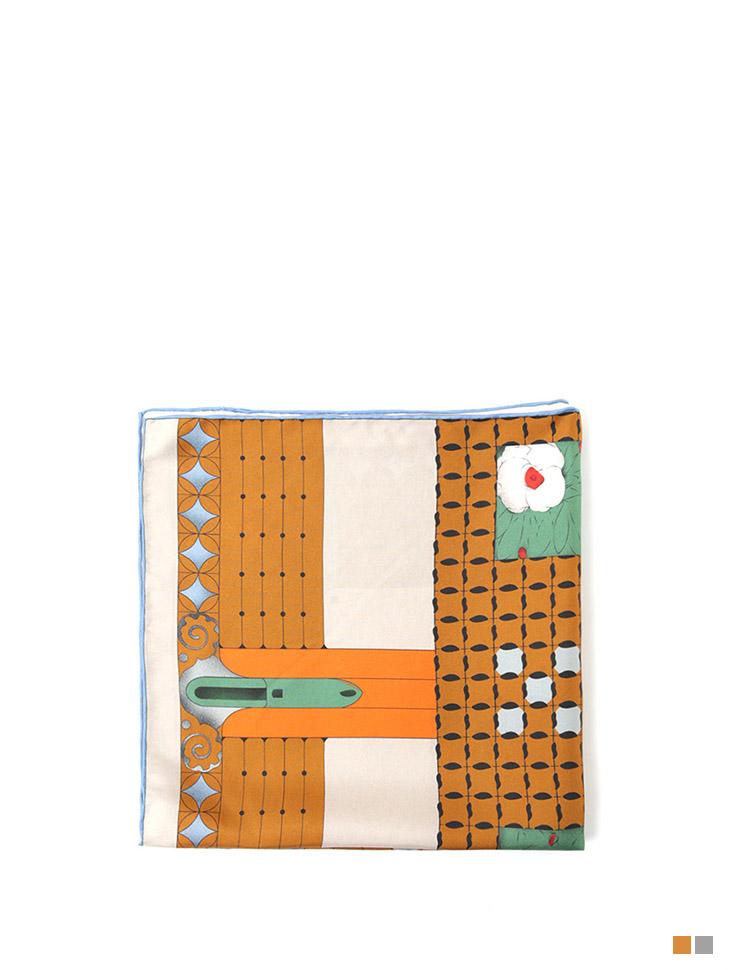 AS-1416 ブロッサムフラワーシルクスカーフ
