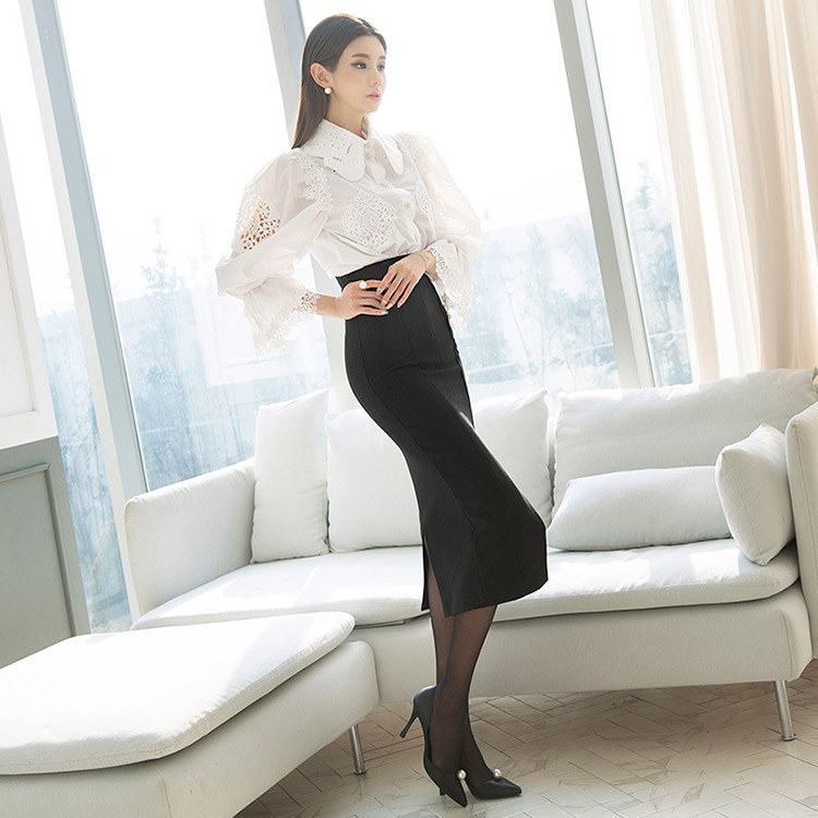 SK1833 テールリーひらきロングスカート *Lサイズ製作* (57th REORDER)韓国