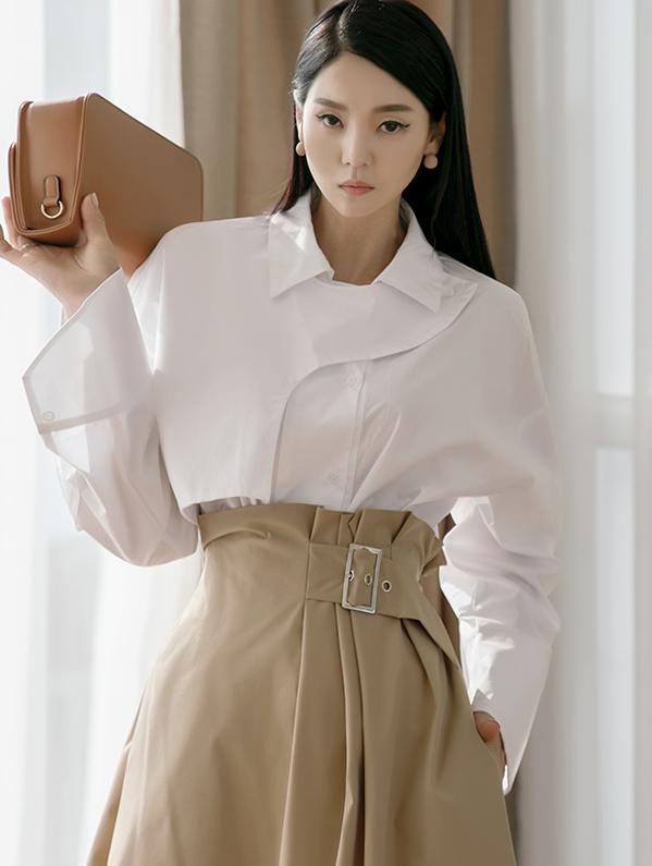 S363 ケープブリティーシシャツ (ベルトセット)韓国