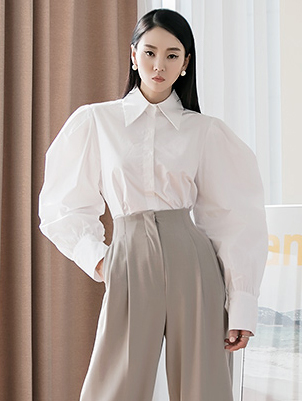S361 セルナ袖パフシャツ韓国