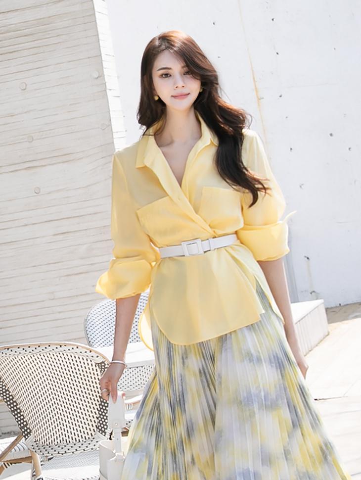 S377 ツーウェイポケットシャツ韓国