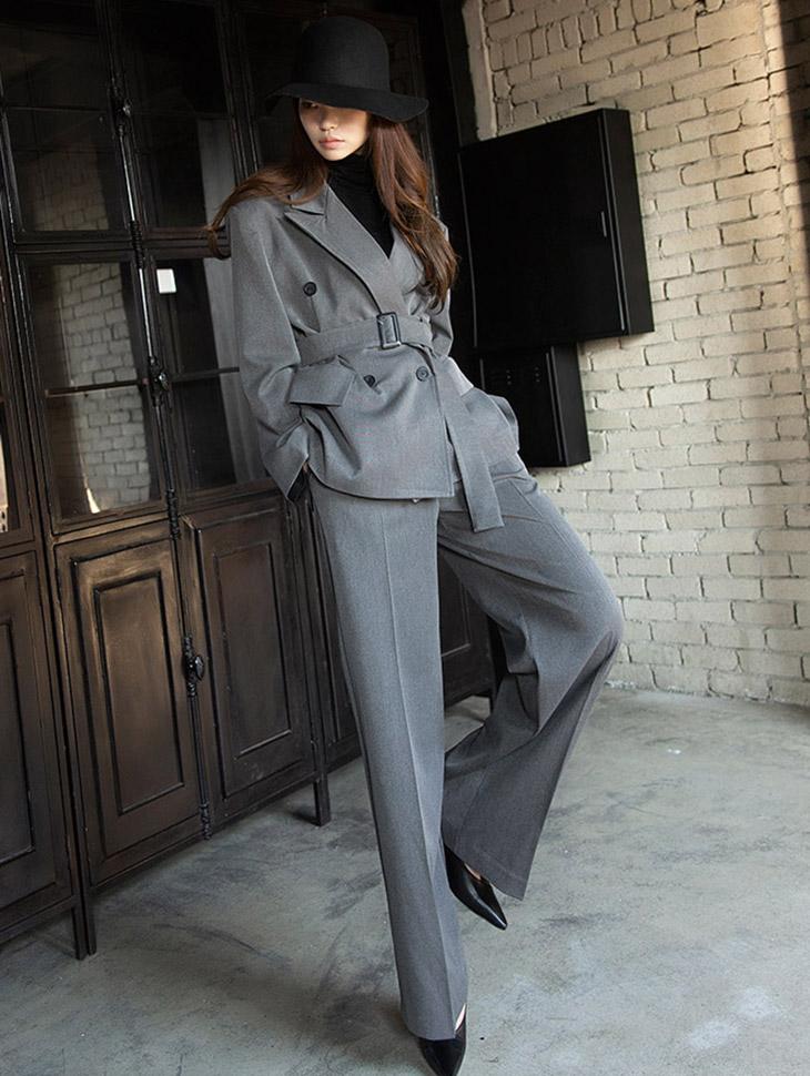 TP1151 クラシック ボックスフィット ライン モダン スーツ(JACKET ベルトセット) *セット 5%*韓国