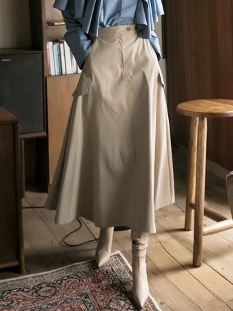 SK2096 ロングバンディングスカート韓国