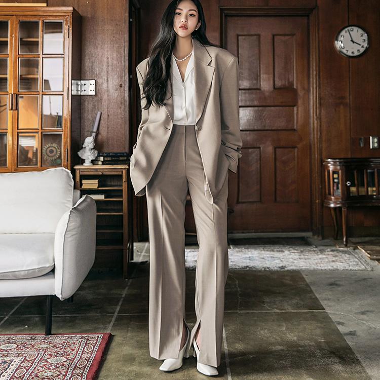 TP1288 テーラードパッドオーバーフィットシングルジャケットスーツ*セット 5%*韓国