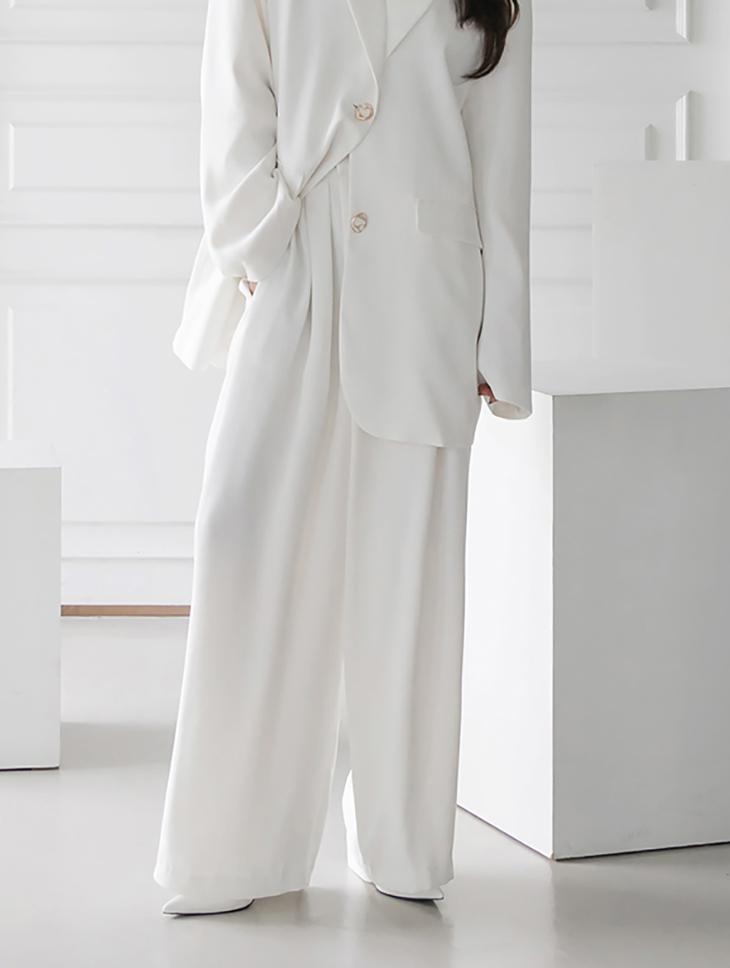 J9122 ゴールドボタンオーバーフィットパッド シングルジャケット 韓国